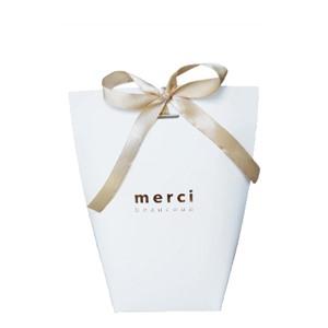 Пакет бумажный MERCI белый 16,5х13,5х8см.BAG MERCI