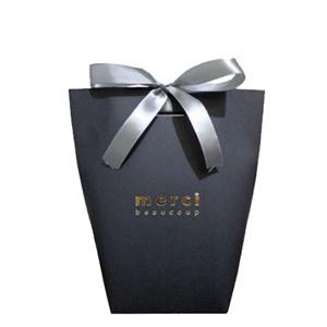 Пакет бумажный MERCI черный 16,5х13,5х8см. BAG MERCI