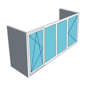 Остекление 3м балкона