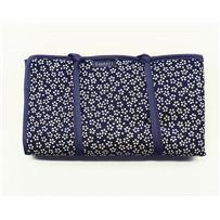 Пенал текстильный для хранения чулочных спиц, темно-синий с рисунком, KA Seeknit 06716