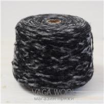 Пряжа Gepard Черно-серый, 150м/50г, Lama Lima
