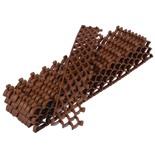 Модульное покрытие Vortex 10 мм площадь 0,19 м2 (10 модулей 38х6 см) коричневый 24058