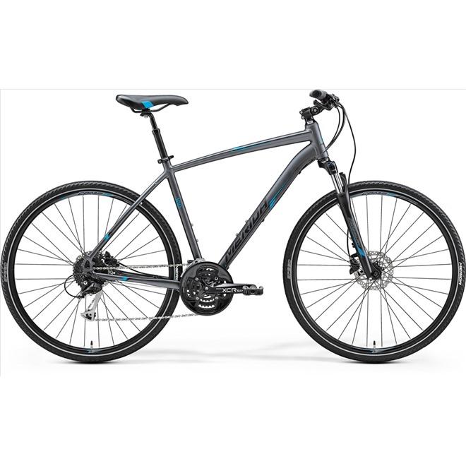 Велосипед Merida Crossway 100 Matt Anthracite/Blue/Black (2017), интернет-магазин Sportcoast.ru