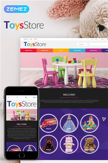 ToysStore - Kids Play Games Store Clean Bootstrap