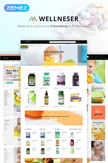 Wellneser - Medical Store Bootstrap Ecommerce Clean