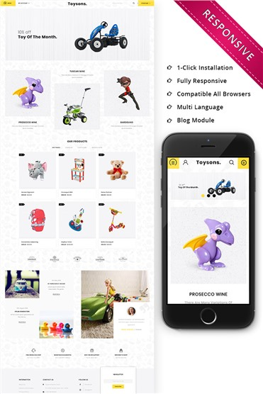 Toysons - Children Shop Responsive