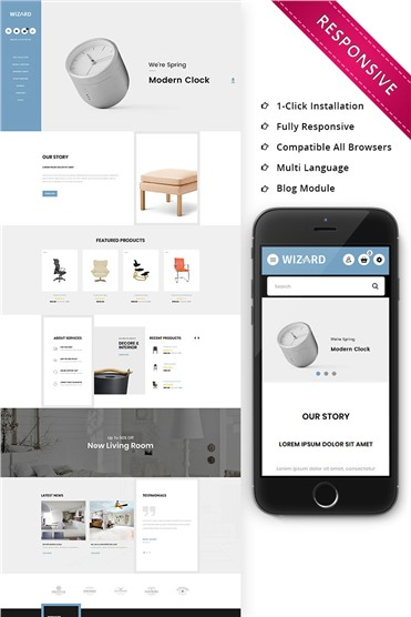 Wizard Furniture Store Responsive