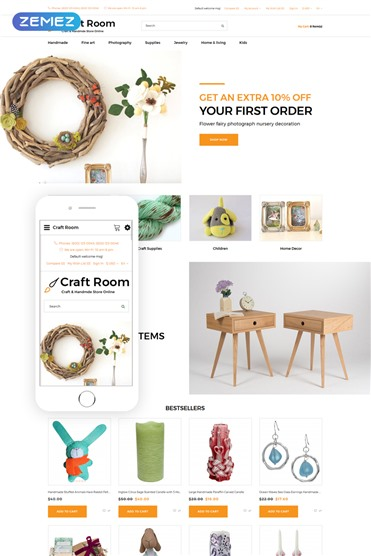 Craft Room - Handmade Responsive Stylish
