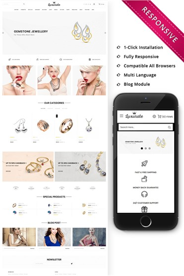 Luxurate - The Jewellery Store Responsive