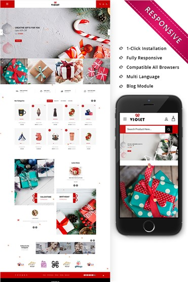 Violet - The Gift Store Responsive