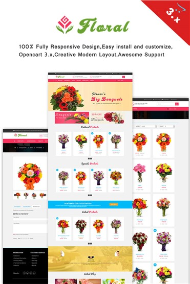 Floral - Responsive  3.x