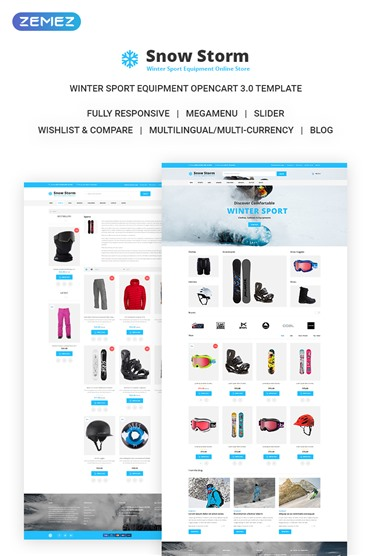 Snow Storm - Winter Sports Equipment Store