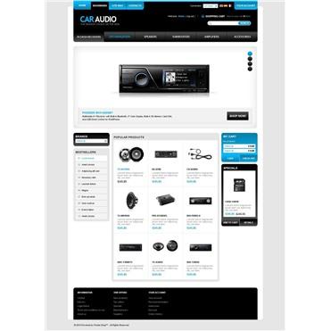 Multi-menu car audio site