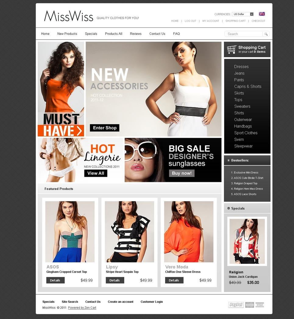 e515df7d377 Заказать шаблон дизайна сайта интернет магазина модная одежда  4419