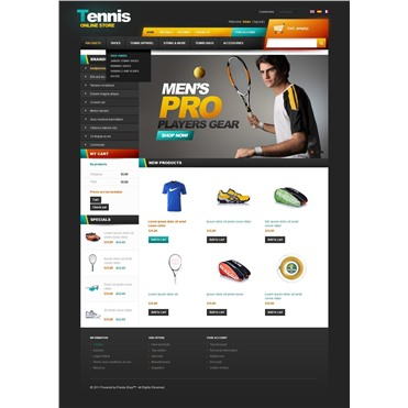 Tennis online store