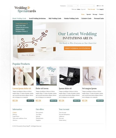 Wedding & Special Cards Online