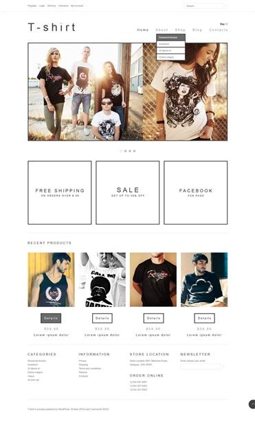 Minimal T-Shirts Store