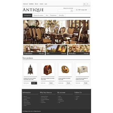 Responsive Antiques Store