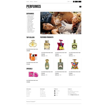 Responsive Perfumes Store