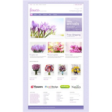 Responsive Flowers Store
