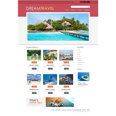 Responsive Dream Travel Store