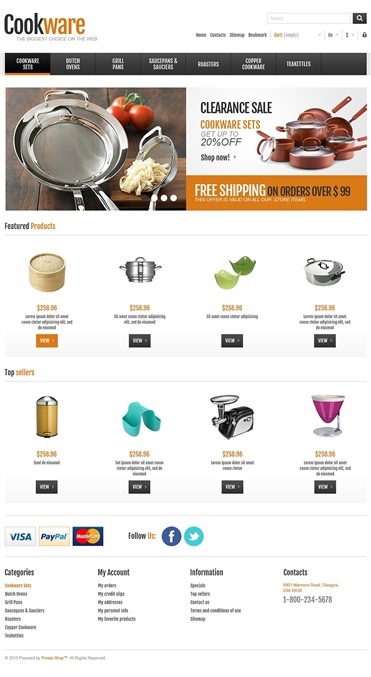 Responsive Cookware Shop