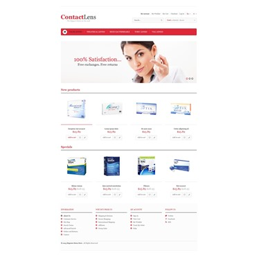 Responsive Contact Lens Store