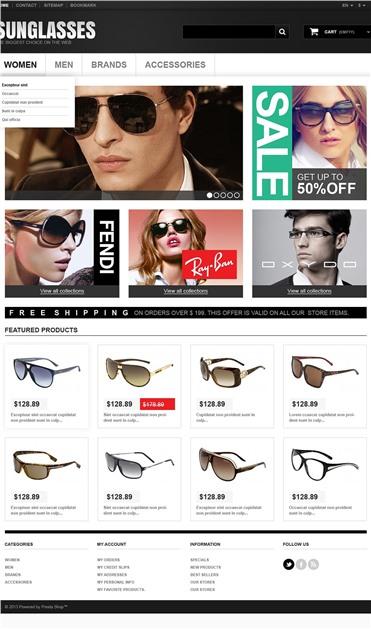 Responsive Sunglasses Boutique