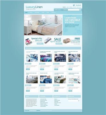 Responsive Luxury Linen Store