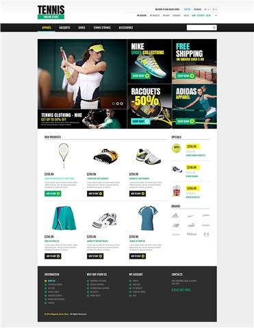 Responsive Tennis Store