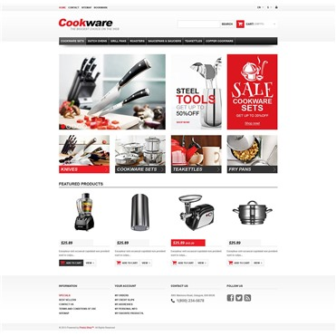 Responsive Cookwear Store