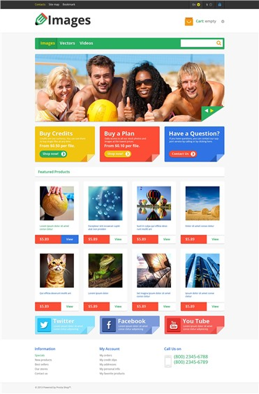 Responsive Images Store