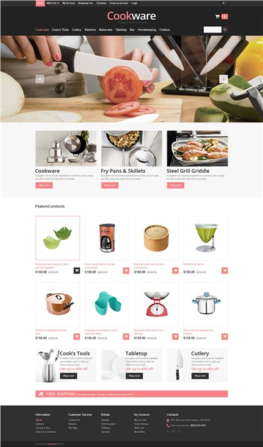 Responsive Cookware Store