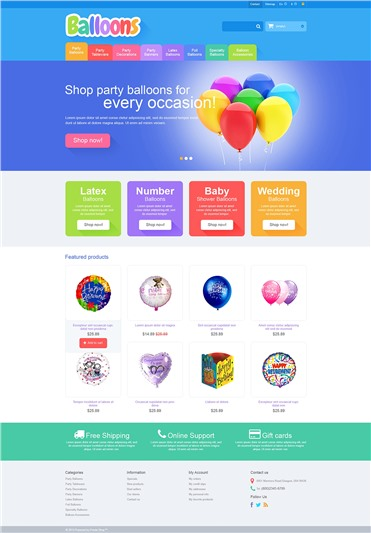 Responsive Balloons Store