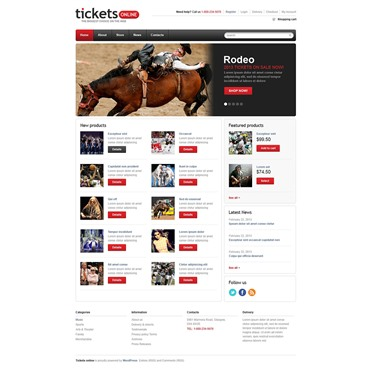 Responsive Tickets Store