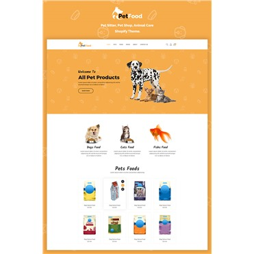 PetFood - Pet Sitter, Shop, Animal Care