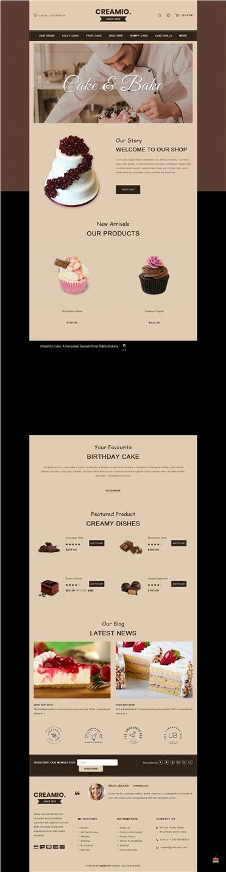 Creamio Cake Shop Responsive
