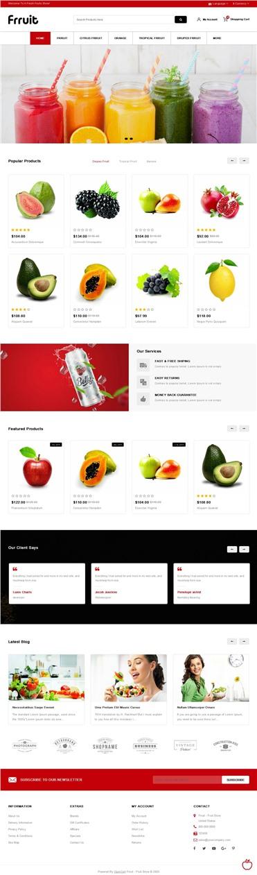 Fresh Fruits Store