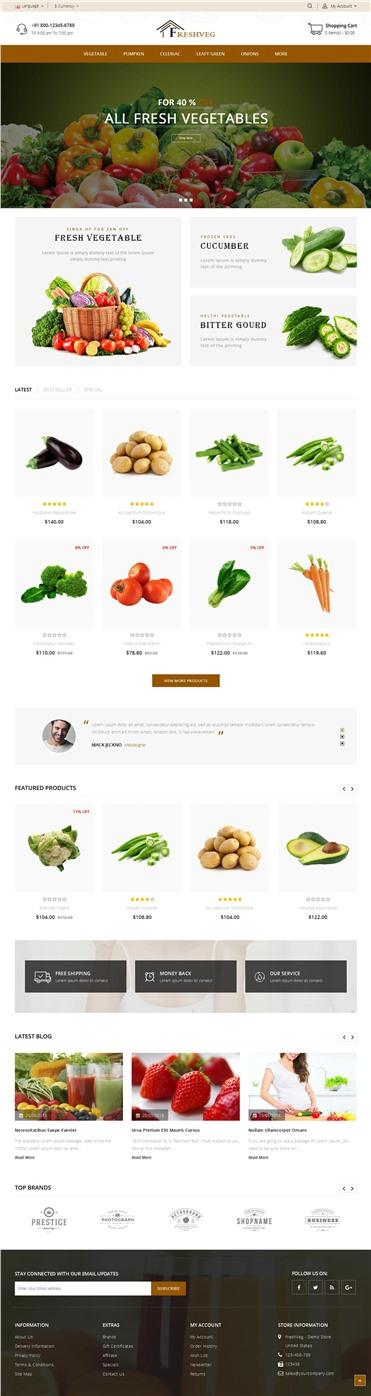 FreshVeg - Vegetable Store
