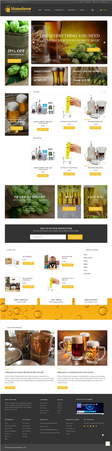 HomeBrew - Brewery Responsive