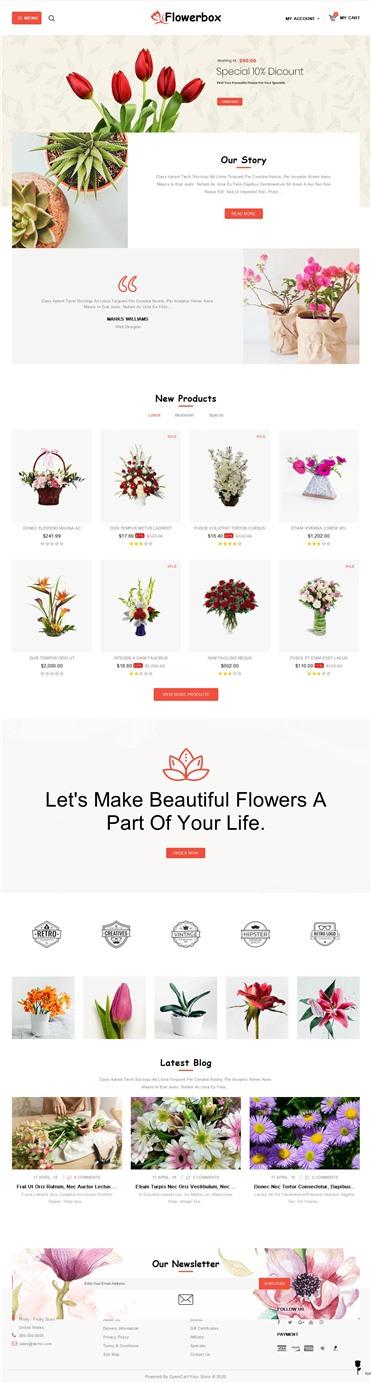 Flowerbox - Online Store