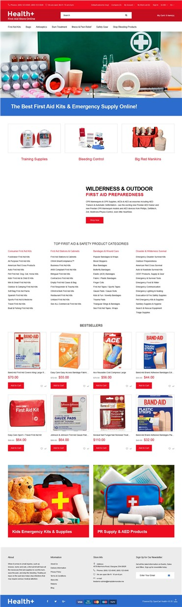 Health+ - First Aid Online Store Clean