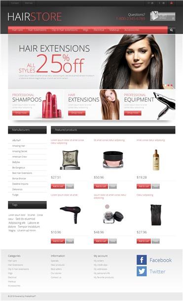 Responsive Hair Store