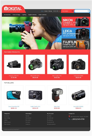 Responsive Digital Photo & Video Store