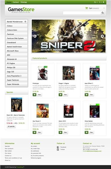 Responsive Games Store