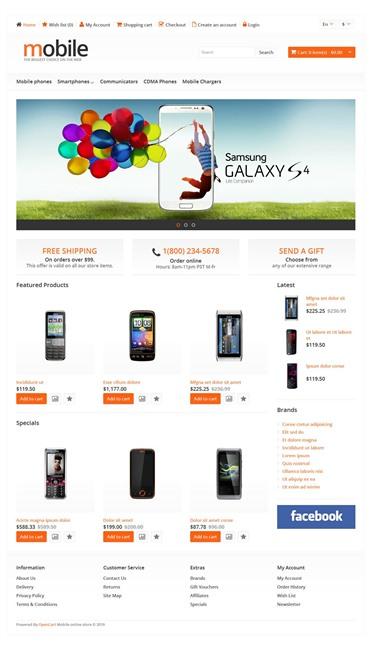 Responsive Mobile Phones Store