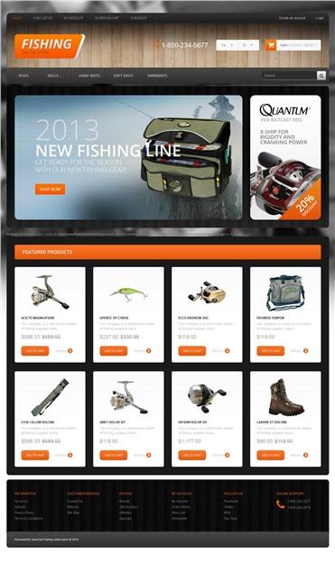 Responsive Fishing Store