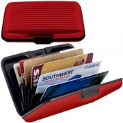 Алюминиевый рифленый кошелек Aluma Wallet (Алюма Валет) цвет красный, оригинал в коробочке.