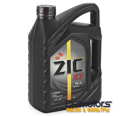 Моторное масло ZIC X7 5W-40 (4л.)