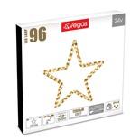 Фигура светодиодная для дома и улицы (теплый свет) Vegas Звезда 96 LED, 56 см, 24V 55039